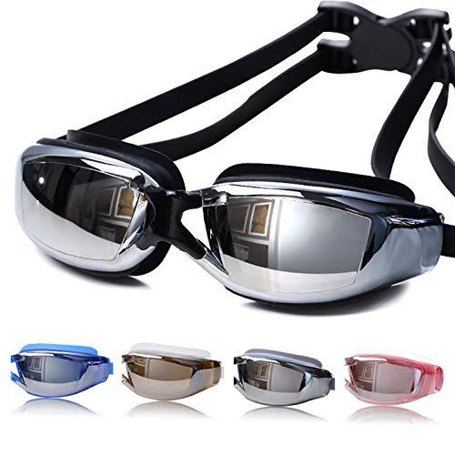 Seturrip - Anti-Fog-Schwimmbrille Schwimmbrille Einstellbare UV-Schutz Kinder/Kinder Erwachsene Schwimmbrille Brillen [Schwarz]