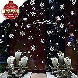 Heekpek® Natale Campane Soggiorno Adesivi Vetro Finestra Decorativa Palla di Neve (D)