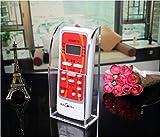 Apsoonsell Aufbewahrungsbox, Acryl, Wandbefestigung, für Fernbedienung, Handy und zur Organisation von Medien 1 Slots