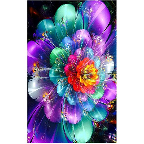 DIY 5D Diamant Painting Yesmile Stickerei Malerei Crystal Strass Stickerei Bilder Kunst Handwerk für Home Wand Decor Gemälde Kreuzstich Unwirklich Blume Bilde Muster -