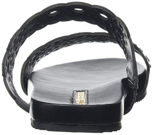 BUFFALO - 15bu0177 Leather Pu, Sandali Donna Nero (Schwarz (BLACK133))