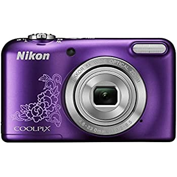 Nikon Coolpix L29 16.1MP Point and Shoot Camera (Purple) with 5x Optical Zoom,Memory Card and Camera Case