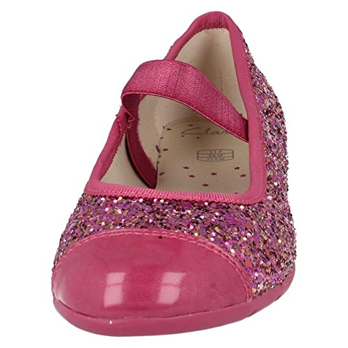 Clarks Danse Solo Girls infantile pompes en synthétique rose et or Rose - Rosa - rosa