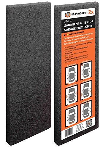 2x UT-PRODUCTS Garagenprotector UT-Z27 - Zuverlässiger Schutz vor Beschädigungen in engen Garagen, Carports und Stellplätzen - einfache Montage ohne Bohren, selbstklebend und individuell zuschneidbar