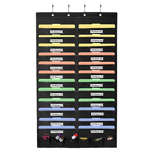 Magicfly Ordnungsmappe zum Aufhängen, Wand Organizer hängende Datei Organizer für Datei, Dokumente, Papier (Datei-organizer Hängende Wand)