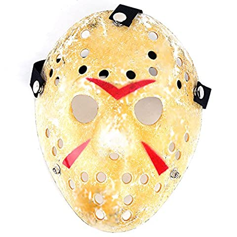 Ouba Friday The 13th Prop Horror Hockey Costume Cosplay Halloween Mask for Kids