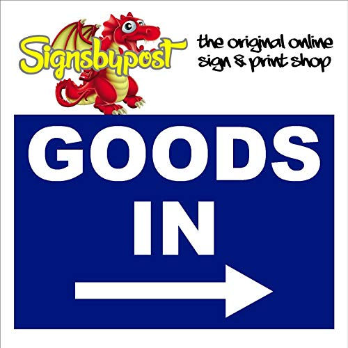 Warehouse Shop Stores 9163 Schild mit Pfeil rechts 15cm x 20cm approx 6