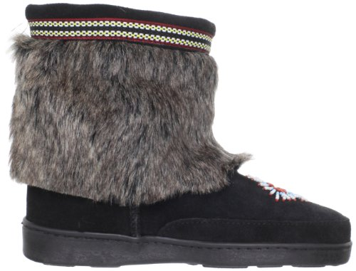 Minnetonka Mukluk Low 3779 Damen Fashion Stiefel Schwarz (Black)