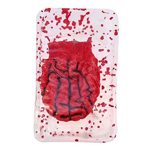 Amosfun Halloween Bloody Props Gefälschte Körperteile des menschlichen Gehirns für Haunted Halloween Party Decorations Supplies