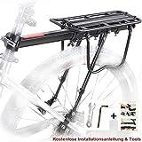 Bicicletta Portapacchi Posteriore, MTB Alluminio Portapacchi Posteriore per Bici Mountain Bike Rack con Riflettore