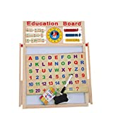 #6: FunBlast Educational Learning Board Multipurpose Double-Sided Magnetic Wooden Writing Board, Small, Size:44 X 36 cm