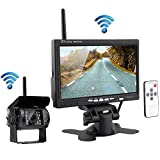 podofo Wireless Backup Camera with Rear View Monitor Parking Assistance System Night Vision Infrared Camera + 17.8 cm HD Rear View Monitor for RV