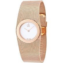 Calvin Klein Damen-Armbanduhr Analog Quarz Edelstahl K3T23626