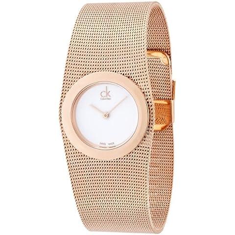 Calvin Klein–Reloj de pulsera analógico para mujer cuarzo acero inoxidable K3T23626