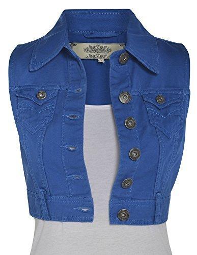 NEW-Womens-Denim-Waistcoat-Size-8-to-16
