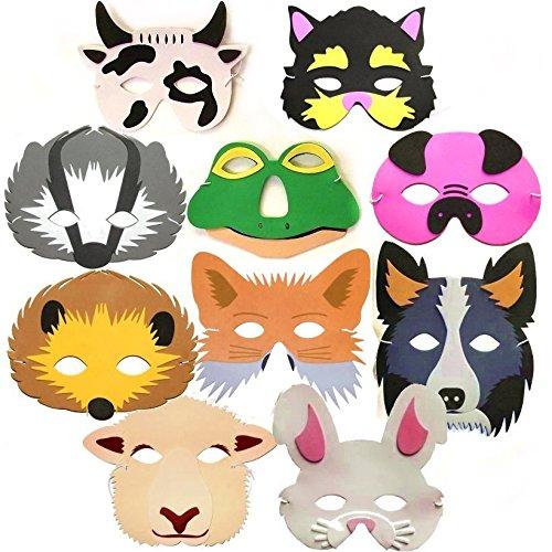 10-woodland-farm-animal-foam-childrens-face-masks
