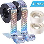 Outus Reflective Tape Bird Scare Tape, Double Sided Bird Repellent Tape for Pigeons, Grackles, Woodpeckers, Ge
