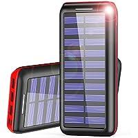 Power Bank AKEEM Mejorar 24000mAh Cargador Móvil Portátil Batería Externa Solar con 3 puertos USB y Entrada Doble para iPhones, iPads, Samsung Galaxy, Android y otros Smartphones