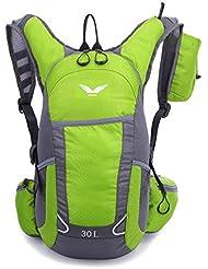 TXJ 30L Mochila de Deporte al Aire Libre para Acampar, Caminatas, Ciclismo (Verde)