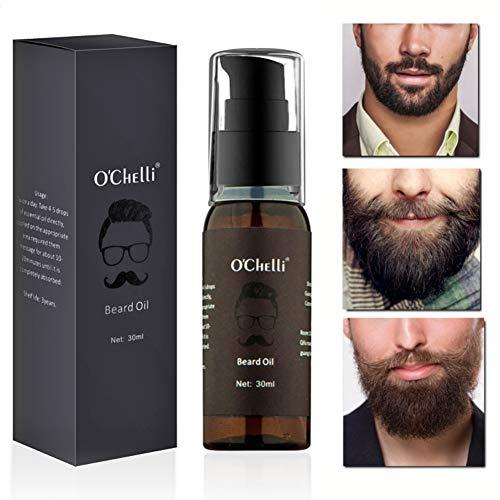 Huile à Barbe Beard Oil Naturelle pour Toilettage et Croissance de la Barbe Nourrissante Hydratante pour Homme Cadeau par Pretty Comy