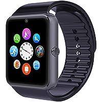 Bluetooth Smartwatch Uhr Armband Fitness Tracker Armbanduhr Sport Uhr mit /Kamera/Schrittzähler/Schlaftracker/Romte Capture Kompatibel mit Android Smartphone
