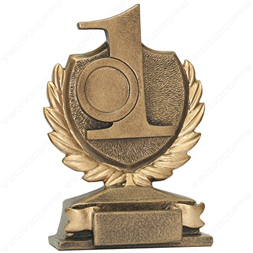tecnocoppe premiazione Número 1Trofeo–1° categorizado–H 13,00cm placa personalizada compresa en el precio