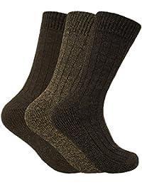 Homme 3 paires laine chaudes anti ampoule respirantes chaussettes pour froid