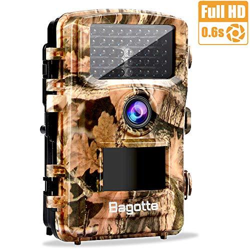 Bagotte Wildkamera, 12MP 1080P Full HD Wildkamera Fotofalle mit 42 PCS Schwarzlicht, Bewegungsmelder 120 ° Weiter Winkel Jagdkamera 22m Sensorabstand auslösen für den Jagd, Spiel, Sicherheitsmonitor