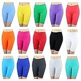 Damen Radlerhose Sport Shorts Hotpants Baumwolle Kurze Leggings oberhalb des Knies