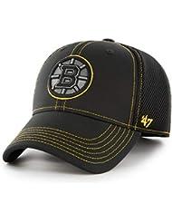 new style fbac8 0cd1d  47 Brand Boston Bruins Stronaut Contender Flex NHL Cap Black