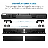 Soundbar, TaoTronics TV Sound Bar Wired and Wireless Bluetooth Audio ( 40 Watt Speaker,34-Inch, 2 Passive Radiators, Dual Connection Methods, Touch and Remote Control, Wall Mountable, Updated Version)