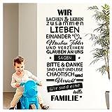 Grandora Wandtattoo Spruch Wir sind eine tolle Familie I dunkelrot (BxH) 58 x 144 cm I Flur Wohnzimmer Sticker Aufkleber Wandsticker Wandaufkleber W5385