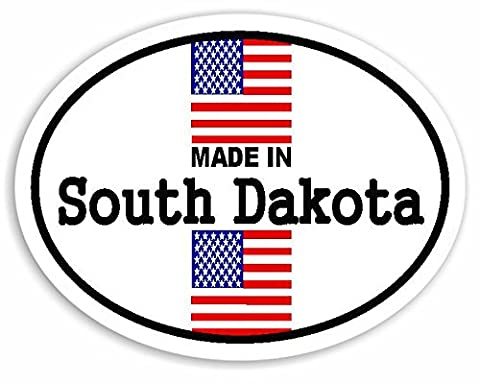 Made In South Dakota - United States Of America Flag Voiture Autocollant / Sticker For Car Bike Van Camper Decal Bumper USA Sign