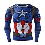 Cody Lundin Hombres Deportes ejercen a Impresa líder héroe de América Que Logo Tops Ajustados Slim Largo Manga Camiseta (XL, Color-a)