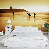 Apalis Vliestapete Surfer Beach Fototapete Breit | Vlies Tapete Wandtapete Wandbild Foto 3D Fototapete für Schlafzimmer Wohnzimmer Küche | mehrfarbig, 95022