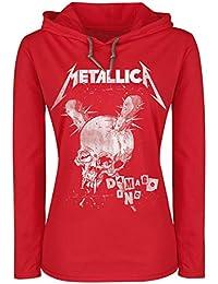 Metallica Damage Inc. Manches Longues à capuche rouge