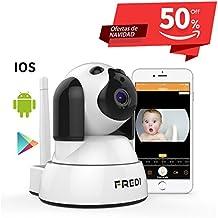 FREDI Baby Monitor IP WiFi P2P Cámara de Vigilancia / Seguridad Inalámbrica HD 720P Camara de Vigilabebes, IR Vision nocturna ,Apoya MicroSD de hasta 128 GB Detección de Movimiento