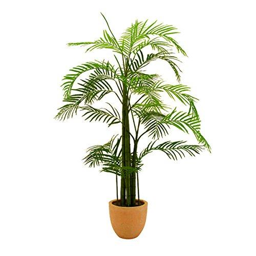 artplants Künstliche Areca Palme mit 13 Wedeln, 110 cm, Outdoor – Palme Deko/Kunstpflanze Areca