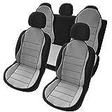 uncarparts UNOMS1G - Auto Hochwertige Sitzauflage Sitzschoner Sitzpolster 3er Set Grau New Design