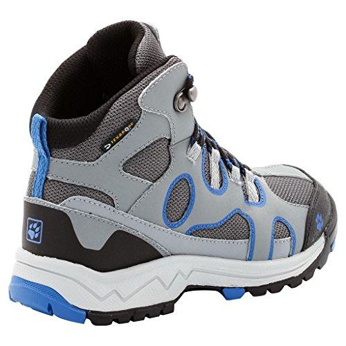 Jack Wolfskin - Crosswind Texapore Mid Chaussures de randonnées pour enfants (gris/rouge) - EU 28 - UK 11 Bleu classique