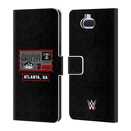 Head Case Designs Offizielle WWE Brock One Way Ticket Atlanta 2018/19 Superstars Leder Brieftaschen Huelle kompatibel mit Sony Xperia XA3 Ultra / 10 Plus (Wwe Tickets)