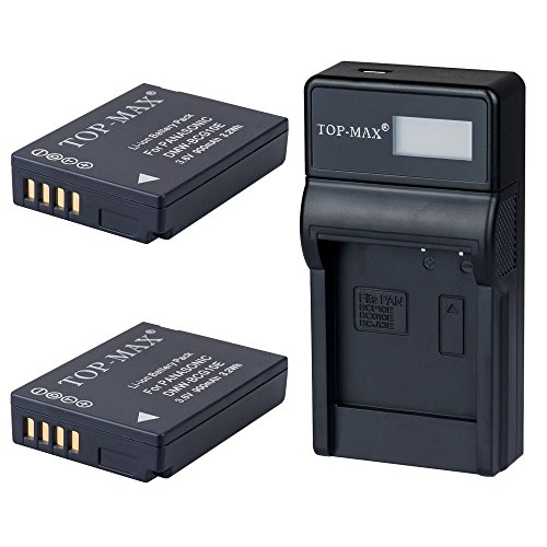 top-maxr-2x-dmw-bcg10e-dmwbcg10edmw-bcg10dmwbcg10-rechargeable-li-ion-battery-usb-charger-replace-de