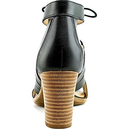 Naturalizer London Leder Sandale Black