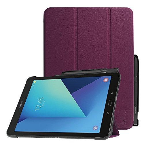 Fintie Samsung Galaxy Tab S3 9.7 Hülle - Ultra Schlank Superleicht Ständer Schutzhülle Cover Case Tasche mit Auto Schlaf / Wach Funktion und eingebautem S Pen Halter für Samsung Galaxy Tab S3 T820 / T825 (9,68 Zoll) Tablet-PC, (Lila) (Pen Tablet-pc)