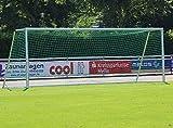 GLA-WEL Fußball Großfeldtor 7,32 x 2,44 m - transportabel und vollverschweißt, untere Tortiefe/Auslage:2.00m, MIT/OHNE Transportrollen:MIT Transportrollen