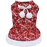 Generic Pet Winter Dog Dress Coat Puppy Cloth Warm Sweater Christmas Apparel XS/S/M/L/XL - XL