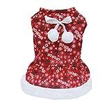 Generic Pet Winter Dog Dress Coat Warm Sweater Christmas Apparel Xs/S/M/L/Xl - L