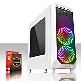Fierce Medusa Vantage PC Gamer - Vite 4GHz Quad-Core Intel Core i7 4790, 1To Disque Dur, 8Go of 1600MHz DDR3 RAM / Mémoire, NVIDIA GeForce GTX 1050 Ti 4Go, ASUS H81M-P PLUS Carte Mère, CiT F3 Blanc Boite D'ordinateur/Bleu Fans, HDMI, USB3, Wi - Fi, Parfait pour un jeu compétitif, Windows non Inclus, 3 Ans De Garantie 236871