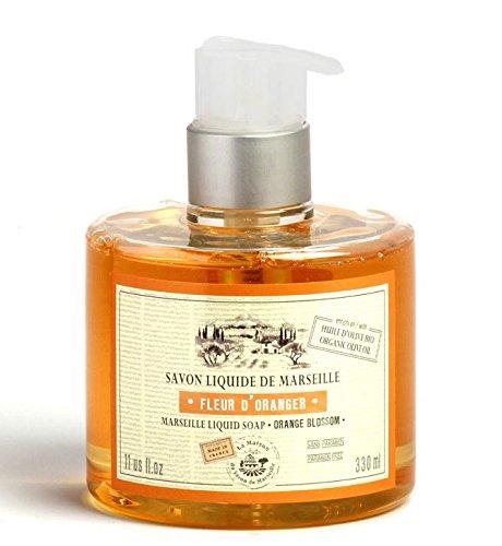 Flüssige Seife mit Bio-Olivenöl 330 ml, Orangenblüte - La Maison du Savon (Olivenöl Seife Flüssig)
