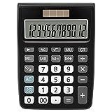 Calculatrice, Helect Fonction Standard Calculateur de Bureau - Noir